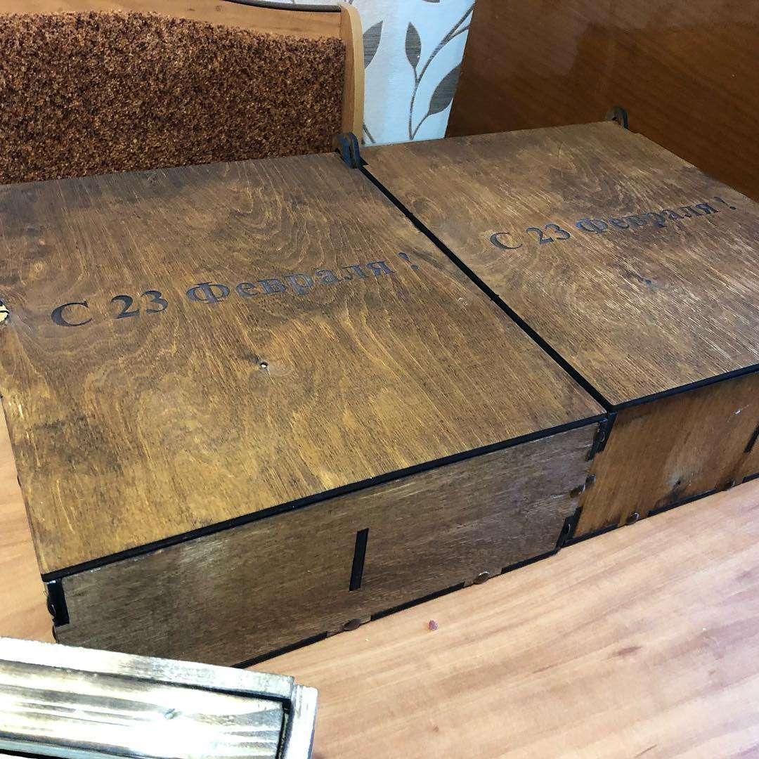 23 февраля - Дерево Деревянный бокс (ящик) для составления подарка на 2,3 или 9 отделений (40 х 30 х 10 см) Бокс для подарка,Дерево,Хит сезона,В букет - Цена, Стоимость - 600 руб.(доставка по всей России)