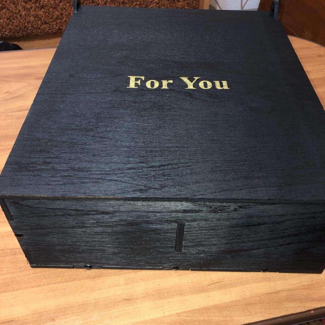 For You - Черный Деревянный бокс (ящик) для составления подарка на 2,3 или 9 отделений (40 х 30 х 10 см) Бокс для подарка,Дерево,Хит сезона,В букет - Цена, Стоимость - 700 руб.(доставка по всей России)