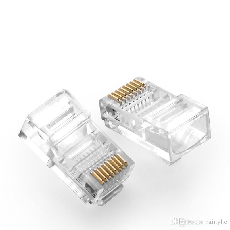 Коннектор RJ-45 cat.5 Коннектор пластиковый. Внимание ! Для крепления данных коннекторов к кабелю нужен обжимной инструмент ! кабель utp - Цена, Стоимость - 5 руб.(доставка по всей России)