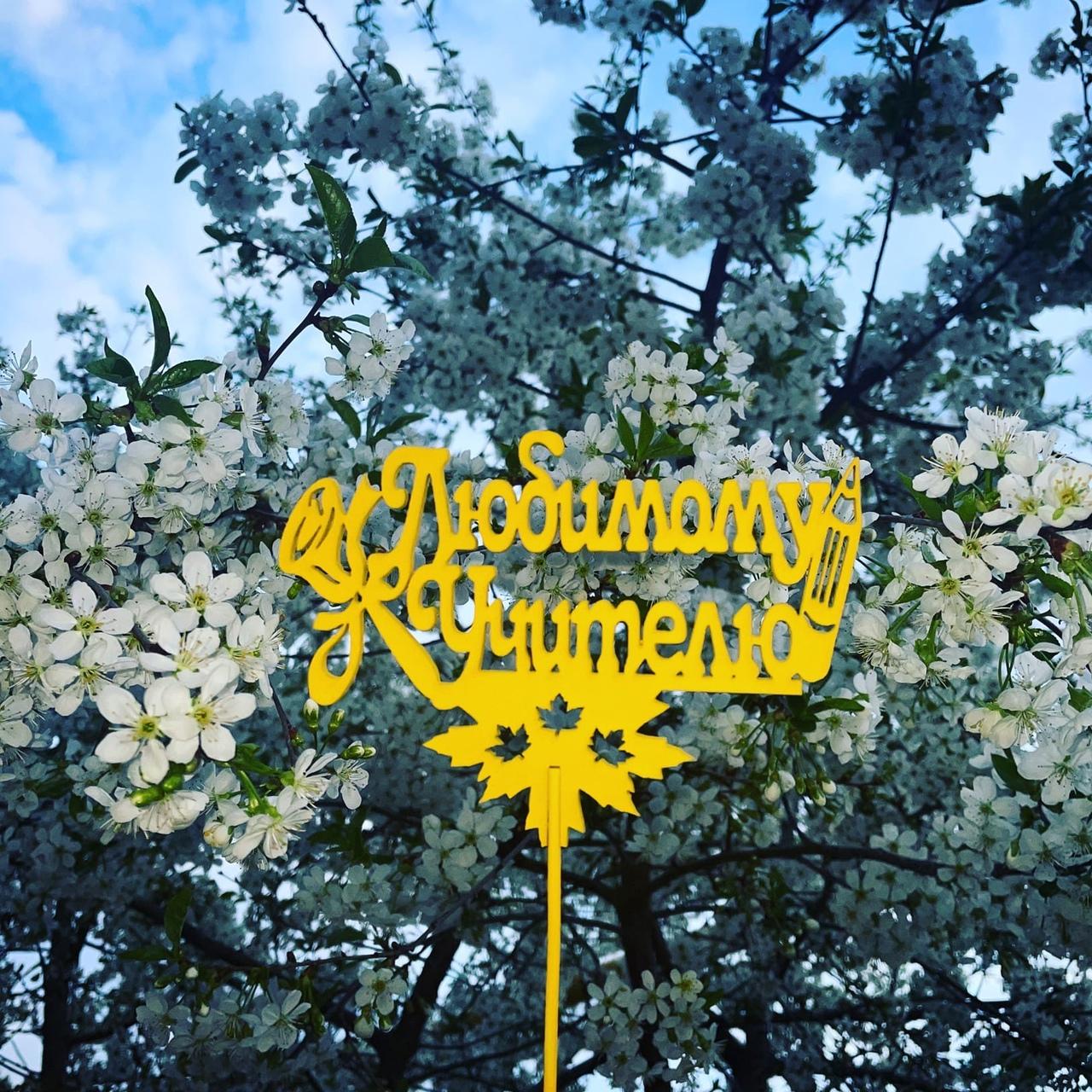 Топер - «Любимому учителю» Топер Любимому учителю  отлично подойдет для дополнения подарка или букета, тортика или просто так... Топпер, Топпер ко дню, njggth, ltym vfnthb, ltym vfvs, ghfplybr, топпер к празднику, топер, toper, топперы в Белгороде, Москве, Твери, Тверь, Санкт-Петербург - Цена, Стоимость - 30 руб.(доставка по всей России)