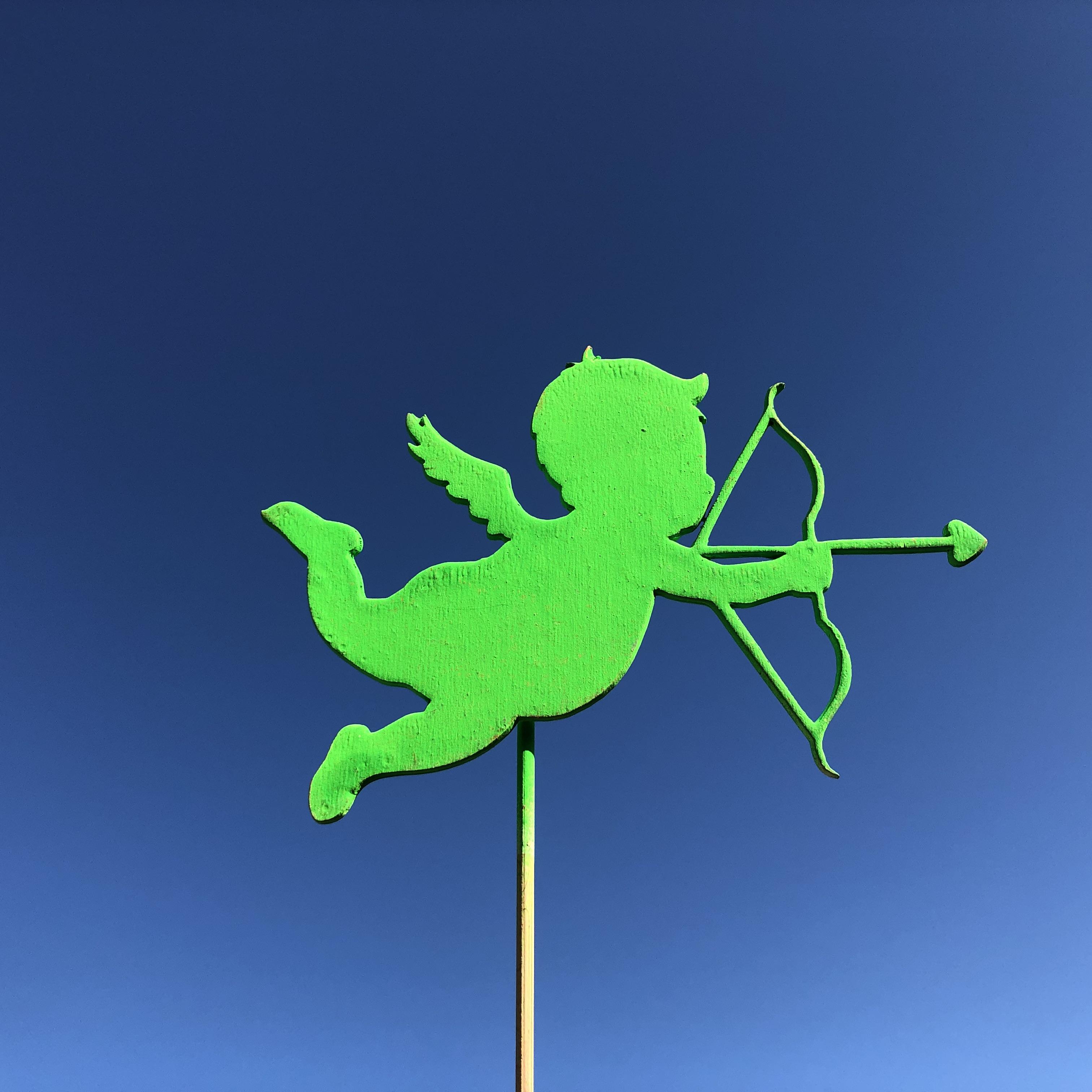 Топпер - «Купидон» Ширины 12 см, длинна палочки 18 см Открытка,Топпер,Хит сезона,В букет - Цена, Стоимость - 20 руб.(доставка по всей России)