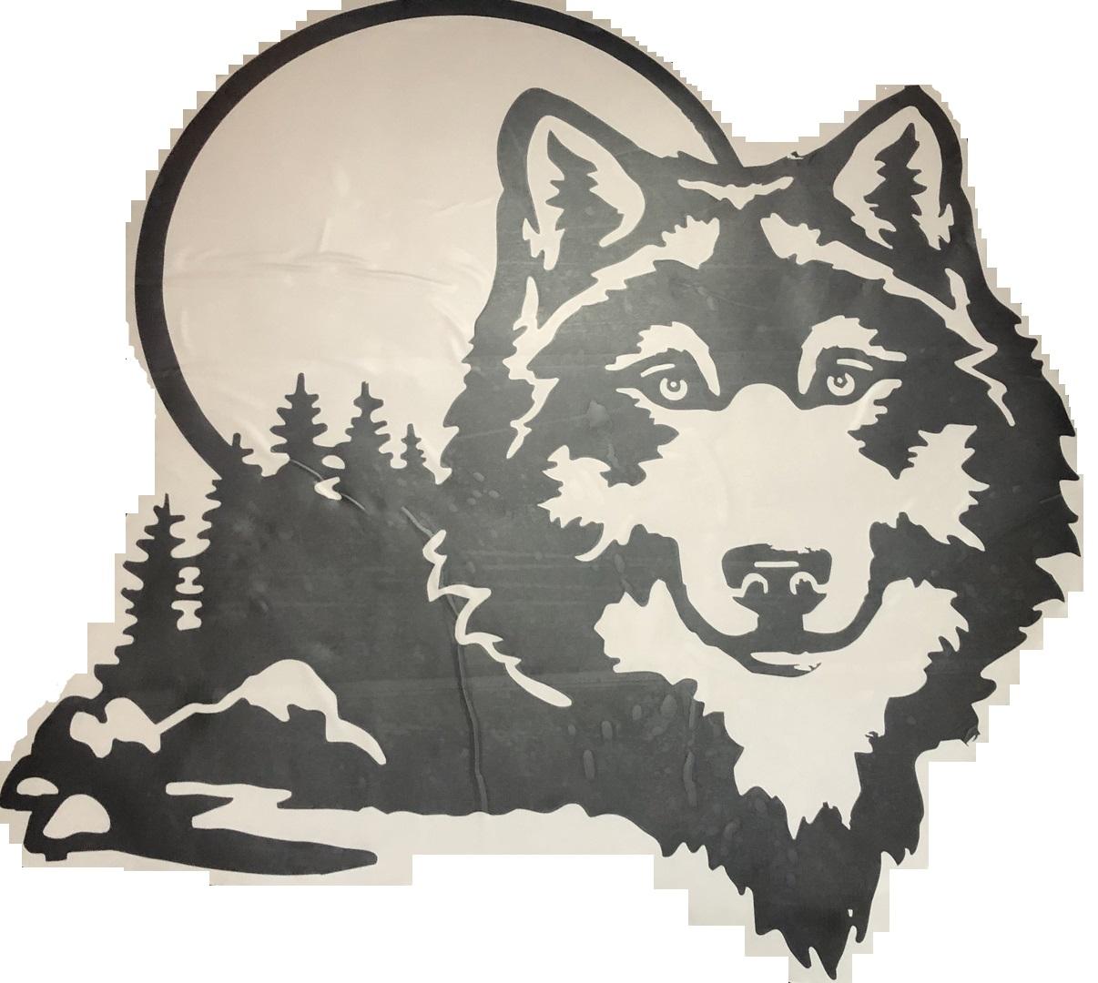Наклейка на автомобиль - «Волк» Наклейка на автомобиль. Размер 80х80 см наклейка на авто, автомобиль, наклейки, животные, волки, пано, супер наклейка, дешево, наклейка на капот - Цена, Стоимость - 1500 руб.(доставка по всей России)