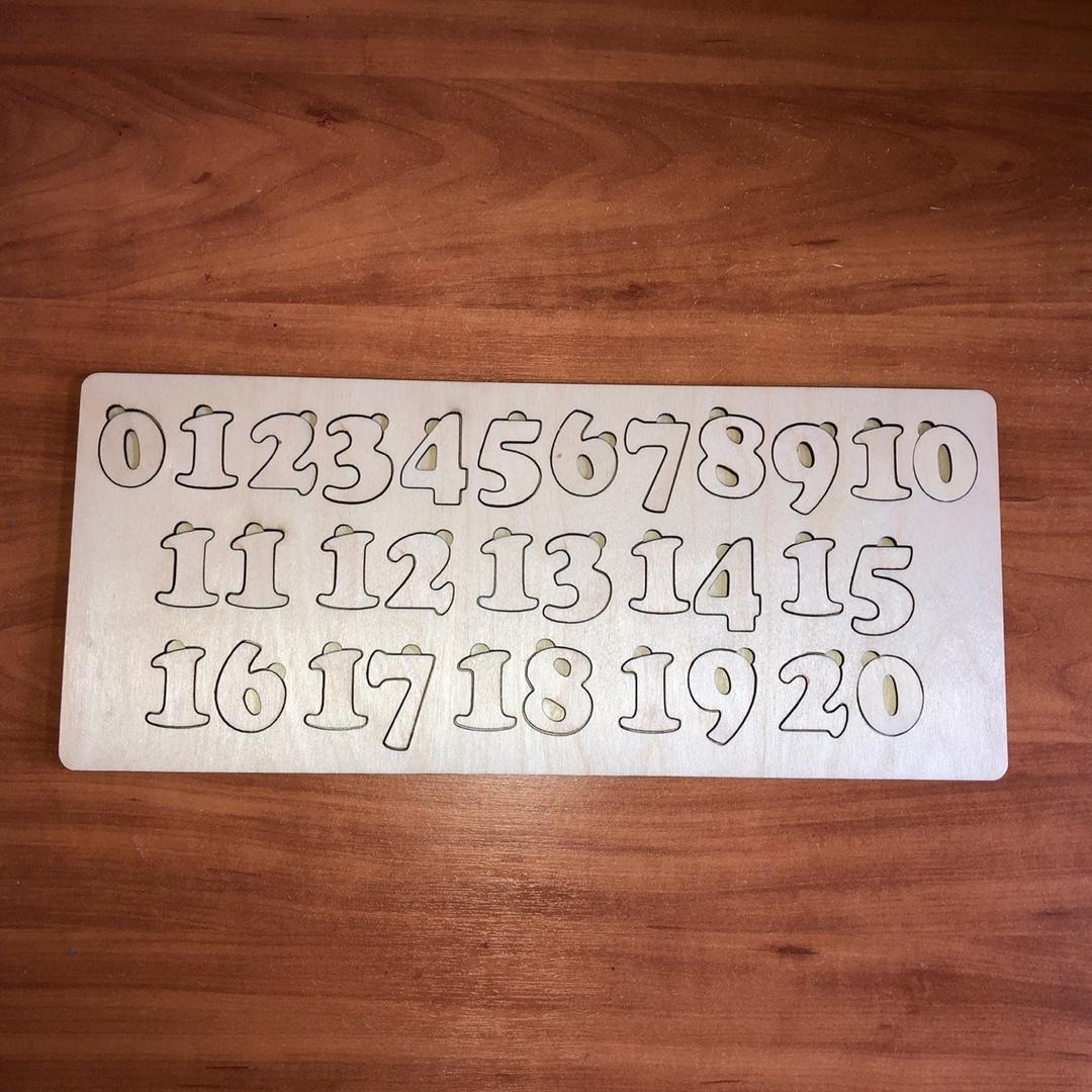 Азбука для детей «Цифры» Цифры от 1 до 20 из дерева. Размеры 40х17 см цифры из дерева. азбука для детей, цифры из фанеры - Цена, Стоимость - 141 руб.(доставка по всей России)