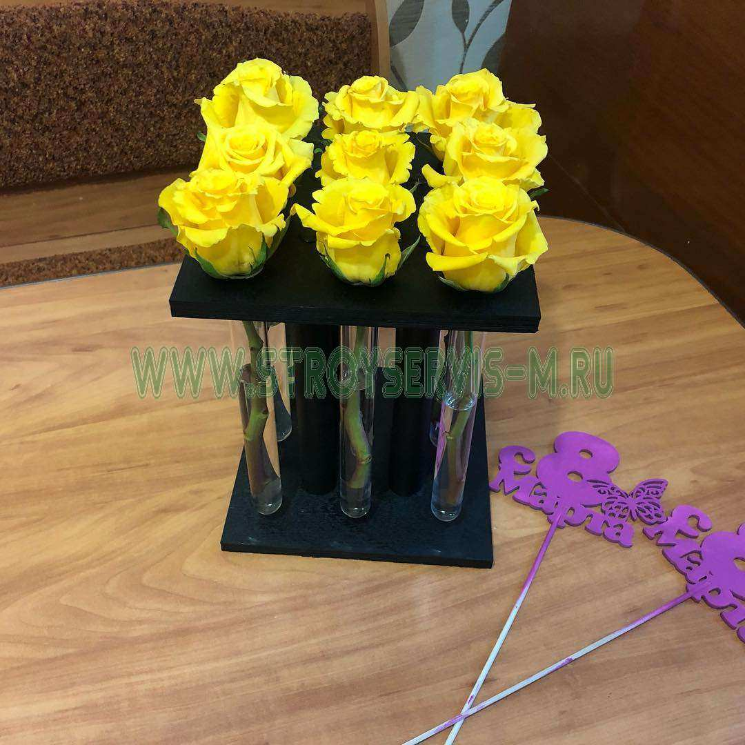 9 роз в пробирке Роскошное кашпо - роза в пробирке для любимой - Роза в пробирке,Цветы в пробирке,Хит сезона,Кашпо, Купить красную розу в пробирке, Розы в пробирках, стильный и недорогой подарок, Белоснежная деревянная ваза сделана профессиональным мастером, Пробирка наполняется водой, КУПИТЬ РОЗЫ В ПРОБИРКАХ, выбирайте розы в пробирках, отдельную колбу с питательным раствором, упакрвка - Роза в пробирке, коробочки для подарков - Цена, Стоимость - 900 руб.(доставка по всей России)