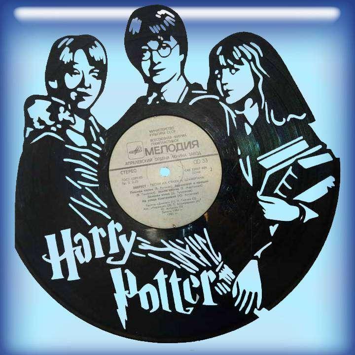 """Гарри Поттер Услуга по изготовлению Каркаса, для изготовления часов из пластики в тематике - """"Гарри Поттер"""" Гарри Поттер,Часы из пластинки,Фэнтази,Harry Potter - Цена, Стоимость - 300 руб.(доставка по всей России)"""