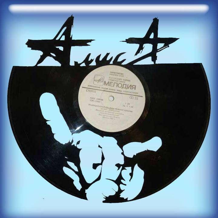 Алиса Услуга по изготовлению Каркаса, для изготовления часов из пластики в тематике - \Алиса\ Рок легенды,Часы из пластинки,Алиса,Кинчев,Веритино - Цена, Стоимость - 300 руб.(доставка по всей России)