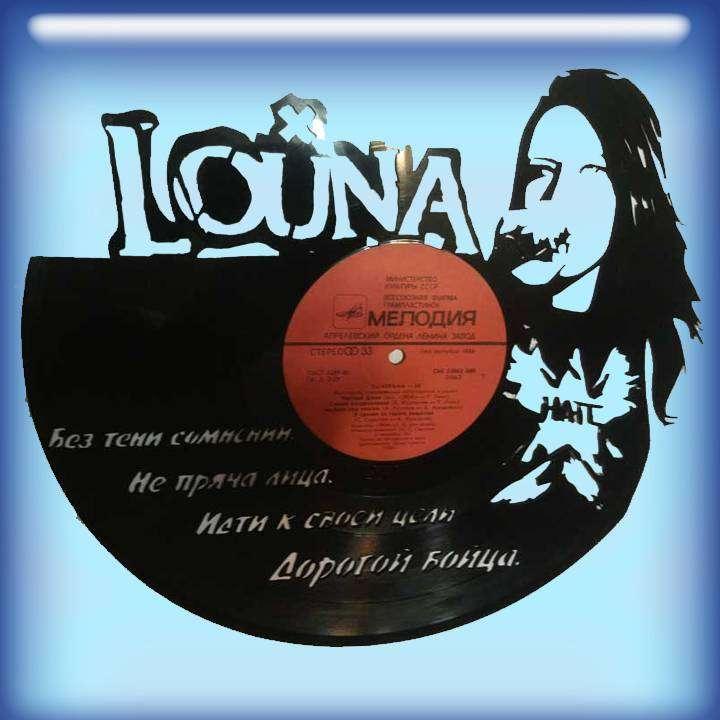 Louna Услуга по изготовлению Каркаса, для изготовления часов из пластики в тематике - \Louna\ Рок легенды,Часы из пластинки,Louna,Луна - Цена, Стоимость - 300 руб.(доставка по всей России)