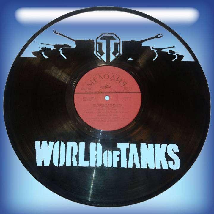 World of Tanks Каркас для изготовления часов из пластики в тематике - World of Tanks Games,Часы из пластинки,World of Tanks,Game,T34,Игра,Т-34 - Цена, Стоимость - 300 руб.(доставка по всей России)