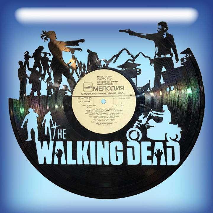 """Walking Dead Услуга по изготовлению Каркаса, для изготовления часов из пластики в тематике - """"Walking Dead"""" Walking Dead,Часы из пластинки,Живые мертвецы - Цена, Стоимость - 300 руб.(доставка по всей России)"""