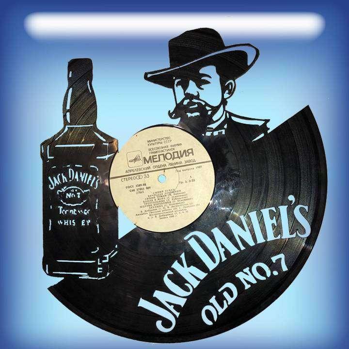 """Jack Daniels Услуга по изготовлению Каркаса, для изготовления часов из пластики в тематике - """"Jack Daniels"""" Jack Daniels,Часы из пластинки,Джек Дениэлс,Виски - Цена, Стоимость - 300 руб.(доставка по всей России)"""
