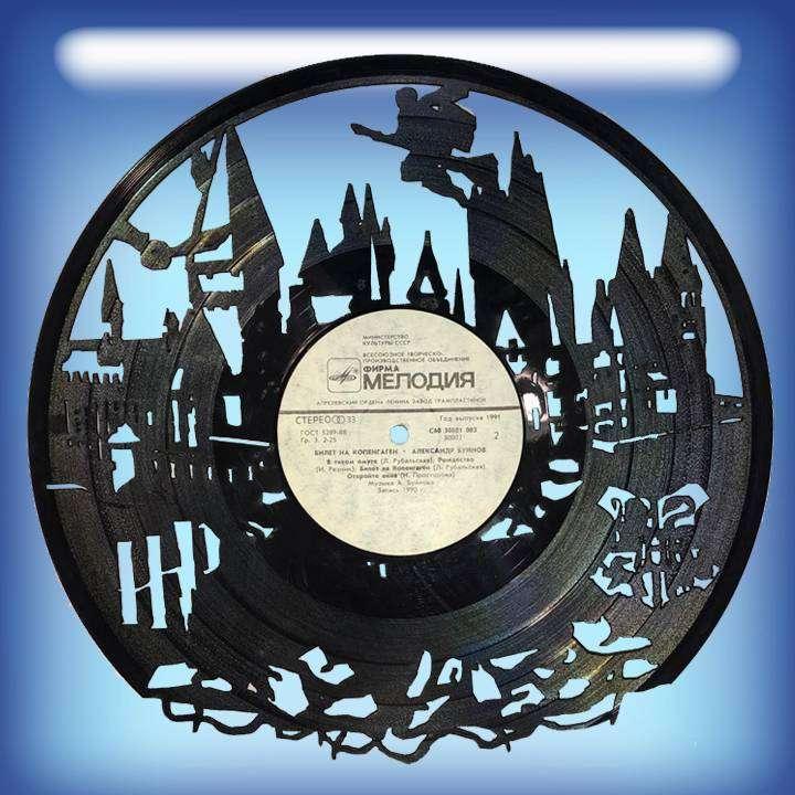 """HP Услуга по изготовлению Каркаса, для изготовления часов из пластики в тематике - """"HP"""" HP, Harry Potter,Часы из пластинки,HP - Цена, Стоимость - 300 руб.(доставка по всей России)"""