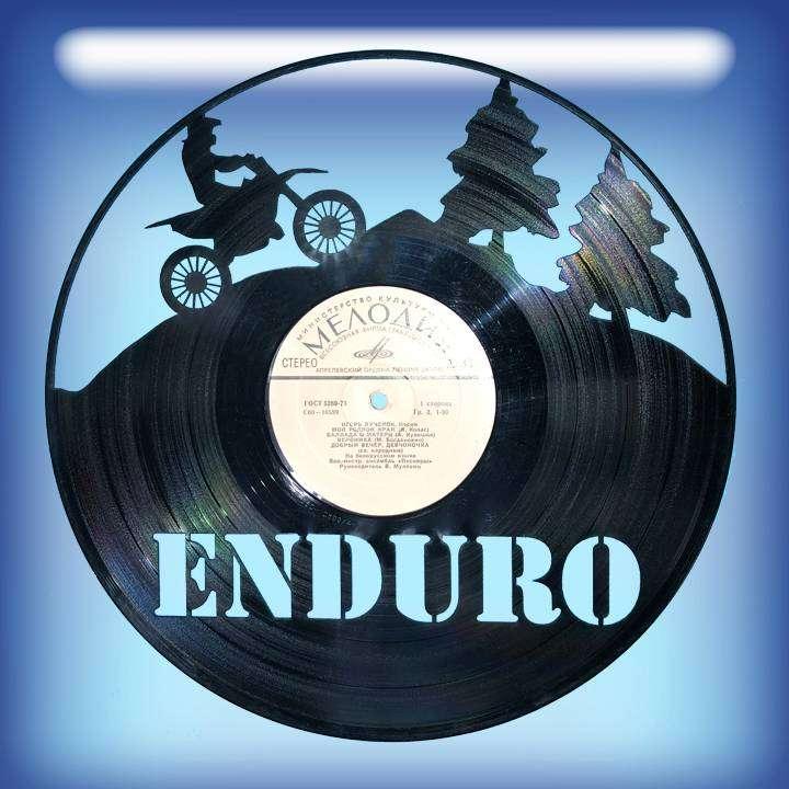 ENDURO Каркас для изготовления часов из пластики в тематике - ENDURO Мотокросс,Часы из пластинки,ENDURO - Цена, Стоимость - 300 руб.(доставка по всей России)
