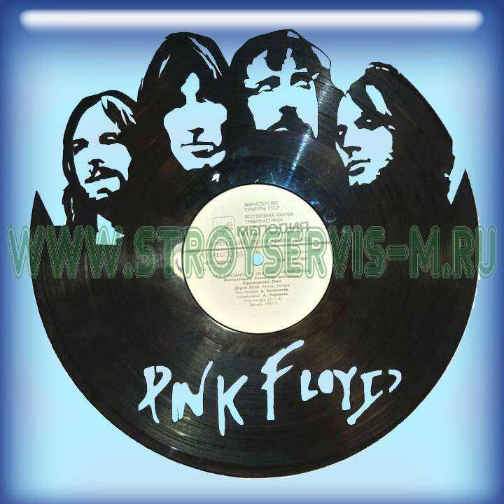 """Pink Floyd Услуга по изготовлению Каркаса, для изготовления часов из пластики в тематике - """"Pink Floyd"""" Pink Floyd,Часы из пластинки,Рок легенды - Цена, Стоимость - 300 руб.(доставка по всей России)"""