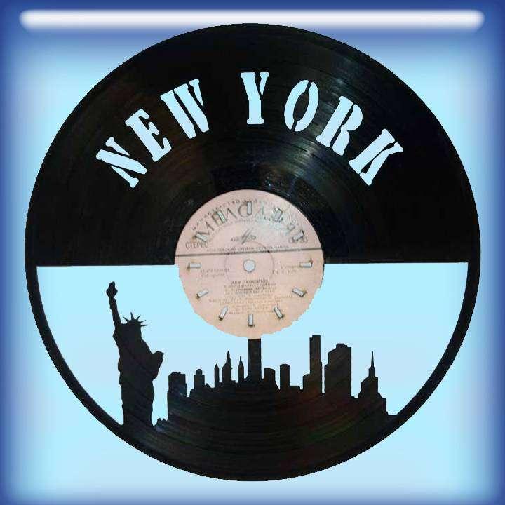 New York Каркас для изготовления часов из пластики в тематике - New York NY,Часы из пластинки,New York - Цена, Стоимость - 300 руб.(доставка по всей России)